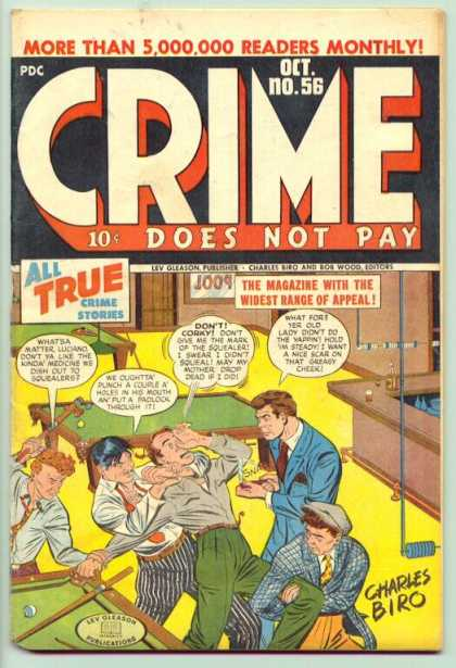 Crime Does Not Pay 56 - Corky - Pool Table - Wrench - Luciano - Biro
