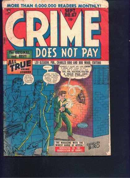 Crime Does Not Pay 67 - Charles Biro - The Original And Best - All True - Guns Firing - Police