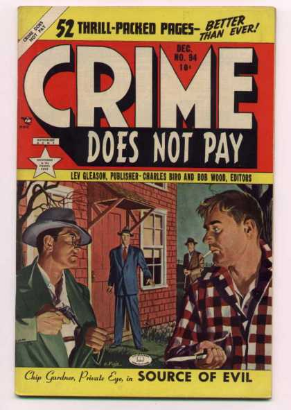 Crime Does Not Pay 94 - 52 Thrill Pakced Pages - Better Than Ever - Lev Gleason - Charles Bird - Bob Wood