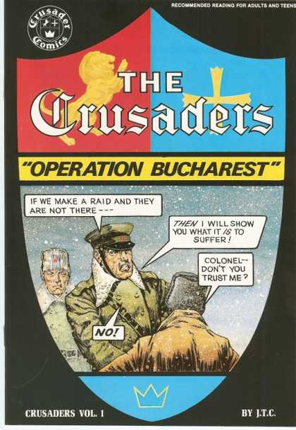 Crusaders - Operation Bucharest - Operation Bucharest - Speech Bubble - Shield - Army - Colonel - Dan Jurgens