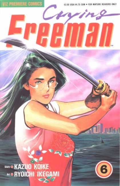 Crying Freeman 6 - Superwoman - Sword - Sea - Shark - Spectacles - Ryoichi Ikegami