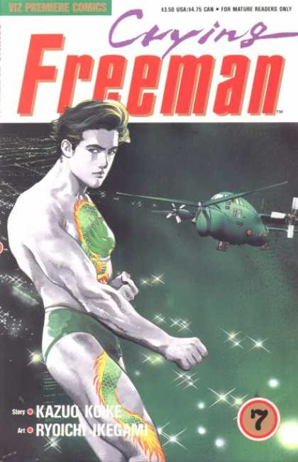 Crying Freeman 7 - Tatoo - Plane - Kazuo Koike - Ryoichi Ikegami - Mature Readers Only - Ryoichi Ikegami