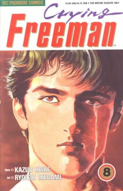 Crying Freeman 8 - Kazuo Koike - Ryoichi Ikegami - Handsome Boy - Brown Eyes - Close-up - Ryoichi Ikegami