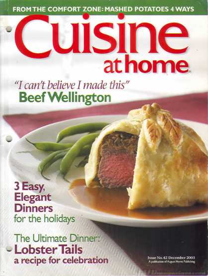 Cuisine At Home - December 2003
