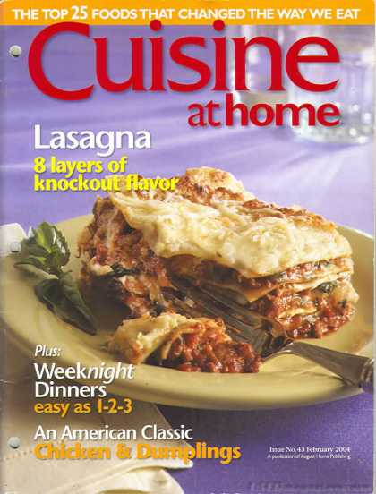 Cuisine At Home - February 2004