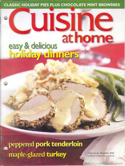 Cuisine At Home - December 2002