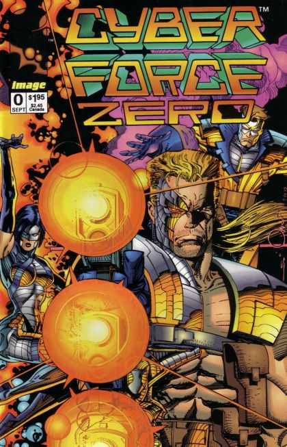 Cyberforce 0 - Fire - Blasters - Costumes - Superheroe - Gun - Pat Lee, Walter Simonson