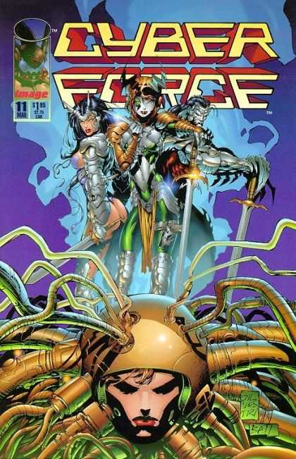Cyberforce 11 - Head - Tubes - Armor - Swords - Weapons - Marc Silvestri