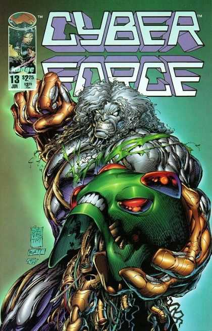 Cyberforce 13 - 13 June - Monster - Green Skull - Fist - Punching - Marc Silvestri