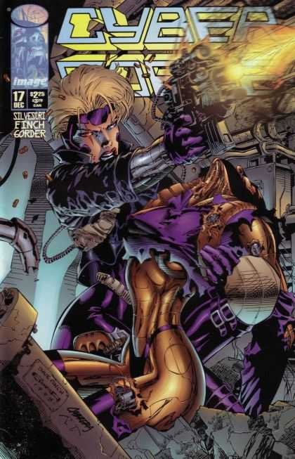 Cyberforce 17 - Image Comics - David Finch - Gun - Superhero - Cyborg - David Finch