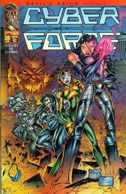 Cyberforce 30 - Devils Reign - Robots - Dark - Powers - Lee Conrad - Kevin Conrad
