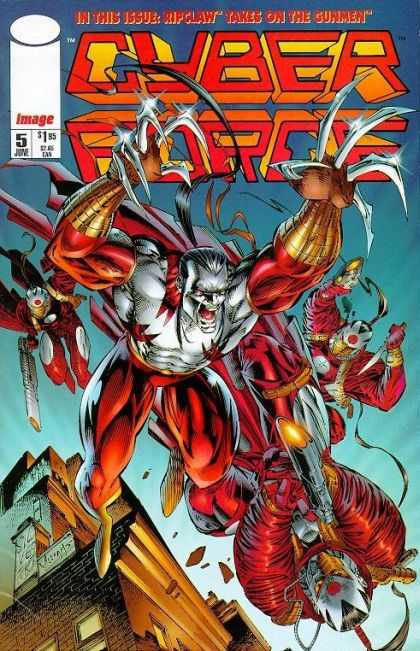 Cyberforce 5 - Cyber - Force - Rip Claw - Gunmen - 5 June - Marc Silvestri, Pat Lee
