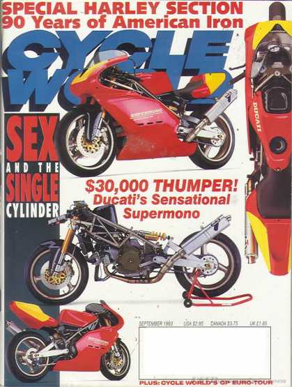 Cycle World - September 1993