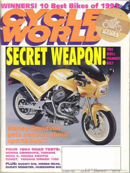 Cycle World - October 1993