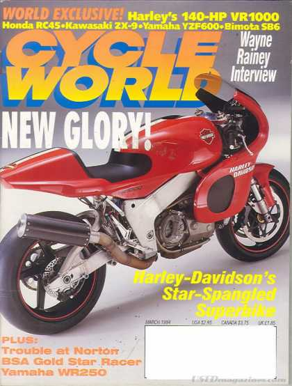 Cycle World - March 1994