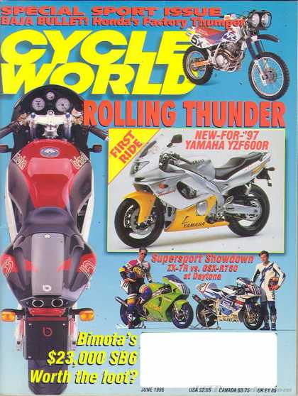 Cycle World - June 1996