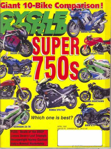 Cycle World - April 1992