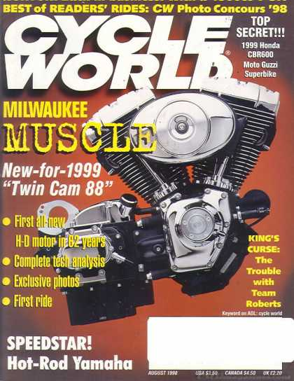Cycle World - August 1998