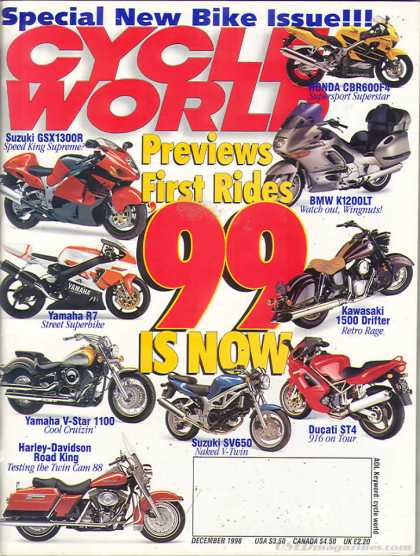 Cycle World - December 1998