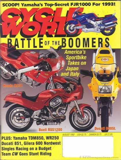 Cycle World - August 1992