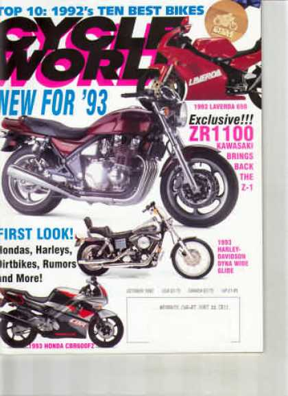 Cycle World - October 1992