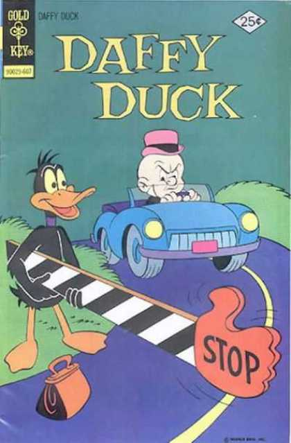 Daffy 102 - Elmer Fudd - Car - Angry - Stop - Roadblock