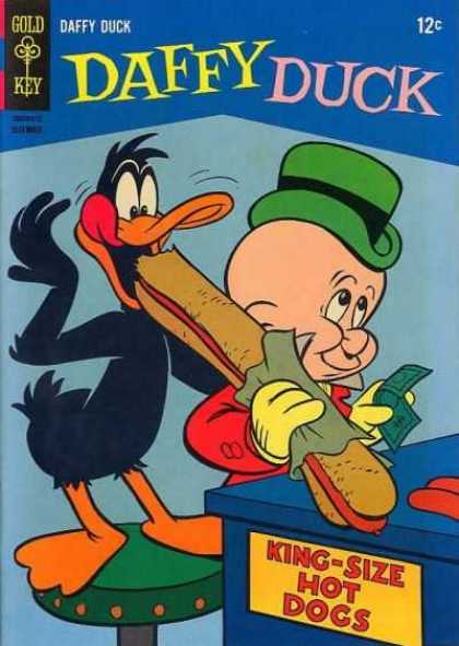 Daffy 47 - Gold Key - Elmer Fudd - Hot Dog - Money - Food
