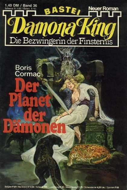 Damona King - Der Planet der Dämonen - Angle - Knife - Horn - Chair - Beard