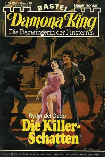 Damona King - Die Killerschatten - Monster - Shadow - Fear - Pink Dress - Couple