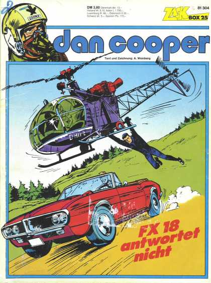 Dan Cooper 2 - Box 25 - Car - Elicopter - Trees - Fx 18