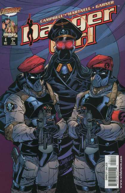 Danger Girl 4 - Machine Guns - Berets - Gas Mask - Knives - Soldiers - Alex Garner