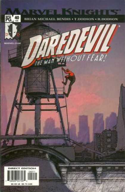 Daredevil (1998) 40 - Marvel - Knights - Water Towel - Ladder - City - Terry Dodson