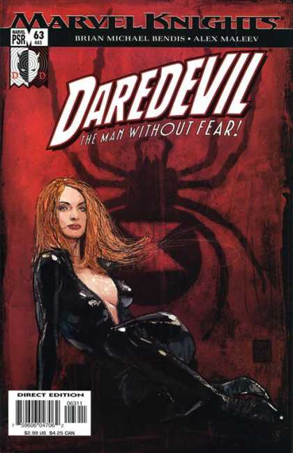 Daredevil (1998) 63 - Marvel Knights - Red Headed Woman - Black Leather - Spider - Brian Michael Bendis - Alex Maleev