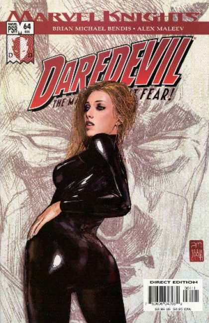 Daredevil (1998) 64 - Brian Michael Bendis - Alex Maleev - Black Pvc - Pencil Sketch - Fear - Alex Maleev