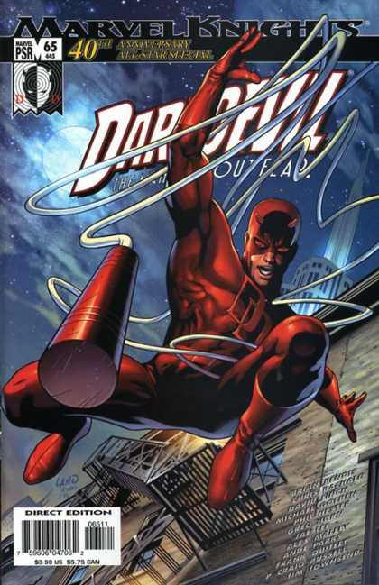 Daredevil (1998) 65 - Marvel Knights - 40 Anniversary - Direct Edition - Super-hero - Building - Matt Ryan