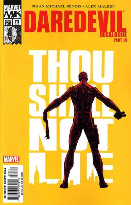 Daredevil (1998) 73 - Brian Michael Bendis Alex Maleev - Daredevil Decalogue Part Iii - Thou Shalt Not Lie - Marvel - Silhouette Of City - Alex Maleev