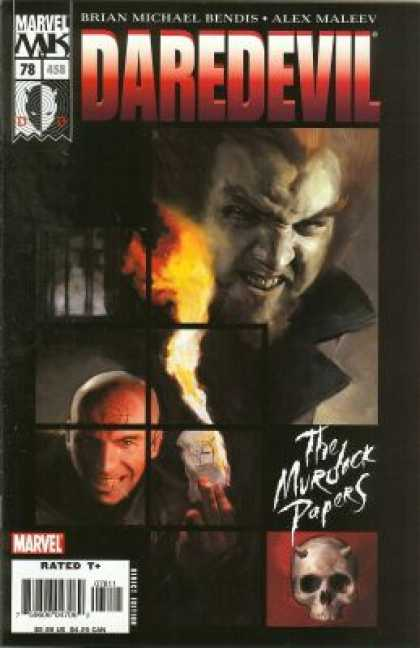 Daredevil (1998) 78 - Brian Michael Bendis - Alex Maleey - Fire - Skull - The Murdock Papers - Alex Maleev