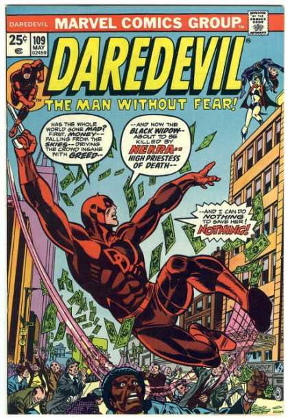 Daredevil 109 - Black Widow - Money - Nekra - Nekra High Priestess Of Death - Building