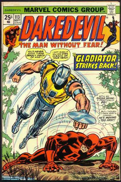 Daredevil 113 - Man Without Fear - Gladiator - Radar Sense - Hes Moving Too Fast - Saw