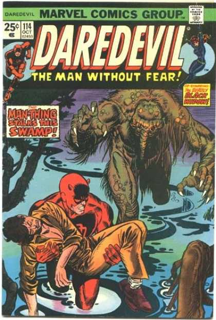Daredevil 114 - Manthing - Swamp - Drown - Mud - Water