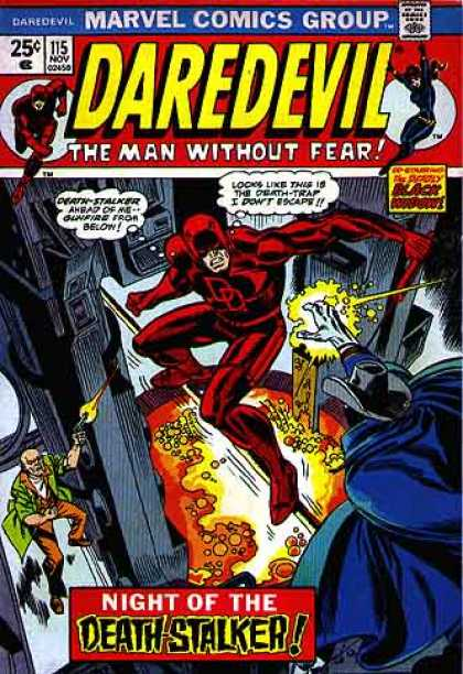 Daredevil 115 - Marvel Comics - The Man Without Fear - Night Of The Death Stalker - Red Suit - Blue Cape
