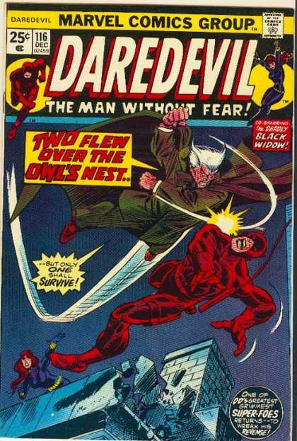 Daredevil 116 - White Hair - Black Widow - Building - Cable - Chimney