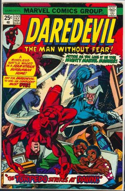 Daredevil 127 - Marvel - The Man Without Fear - Torpedo - Strikes At Dawn - Daredevil
