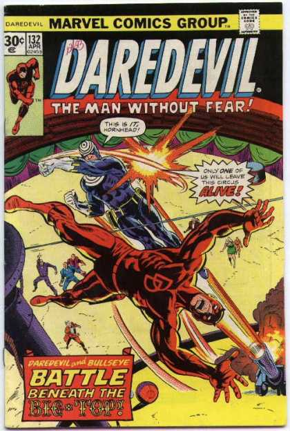 Daredevil 132 - Circus Ring - Superhero - Villain - Onlookers - Ringmaster - Richard Buckler