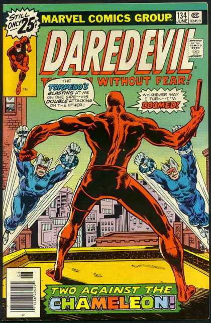 Daredevil 134 - Blue - Red - Building - City - Stick