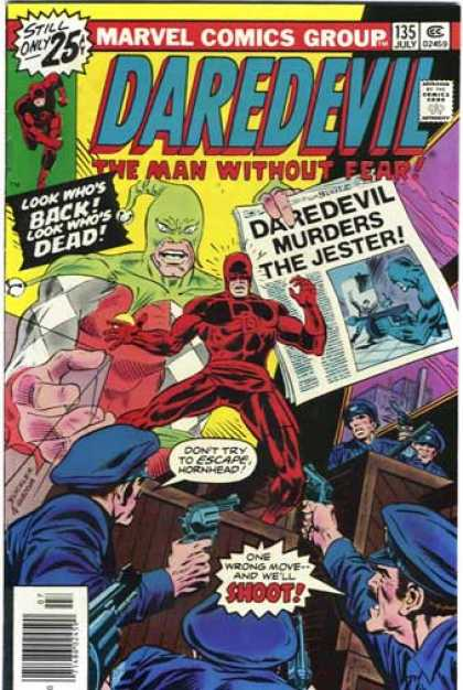 Daredevil 135 - Masked Villian - Super Hero - Framed - Guilty Do-gooder - Crime Fighter - Richard Buckler
