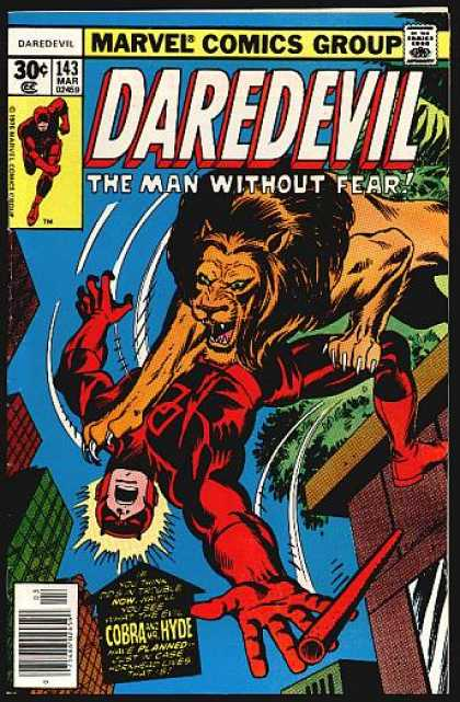 Daredevil 143 - The Man Without Fear - Stick - Marvel Comics Group - Buildings - Cobra Hyde - Dave Cockrum