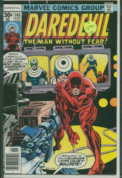 Daredevil 146 - Ray Gun - Tv Screens - Bullseye - Red Suit - New York