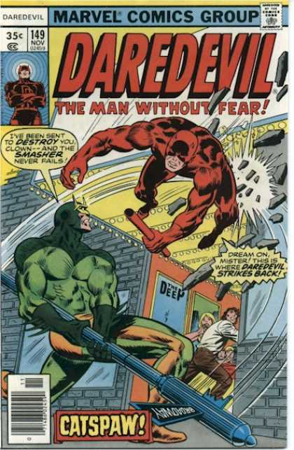 Daredevil 149 - Fear - Marvel - Destroy - Weapon - Wall