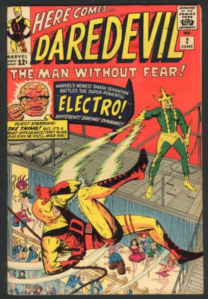 Daredevil 2 - Here Comes - The Man Without Fear - 2 June - Electro - The Thing - Jack Kirby